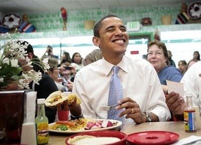 Obama-eating-tacos