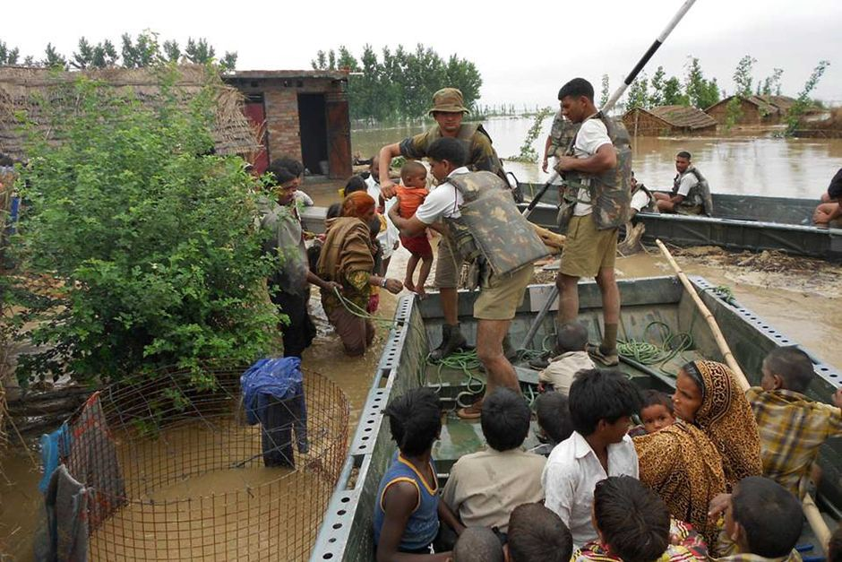 indian forces to rescue