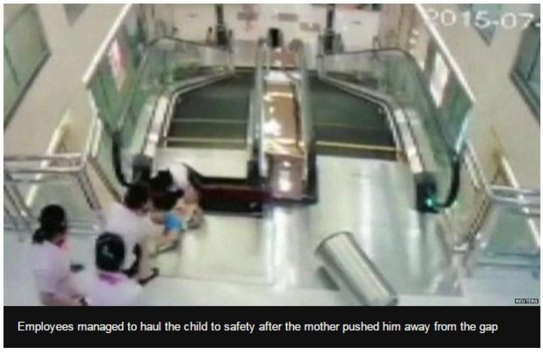 escalator in china