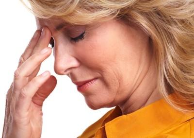 woman having stress.