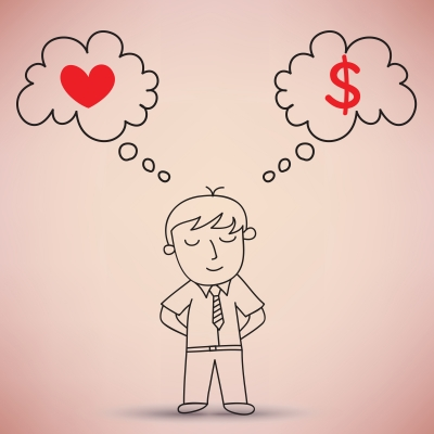 Money-over-love-thinking