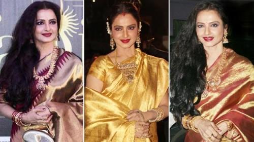 rekha's Kanjeevaram sarees
