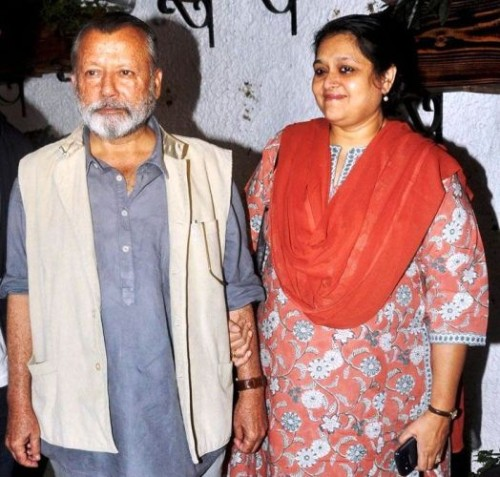 Pankaj Kapur with wife
