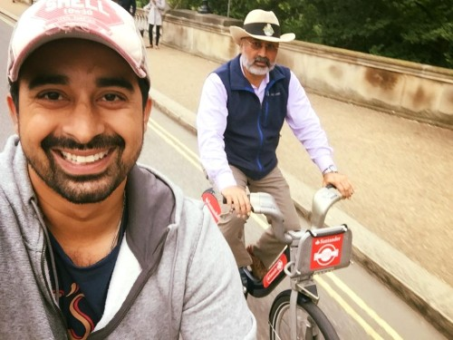 Rannvijay singh singla & his father