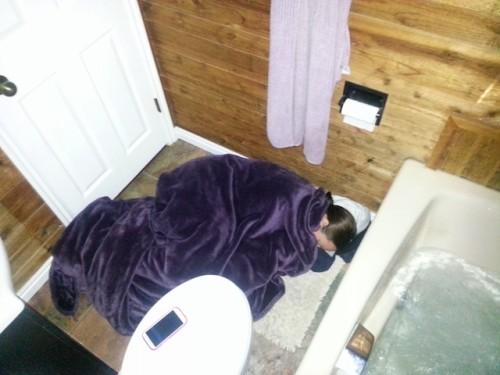 Sleeping in the Bathroom
