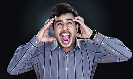 Frustrated man shouting