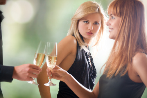 woman looking at with jealousy